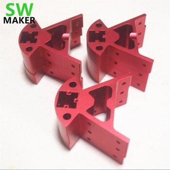 Reprap Delta kossel k800 mini corner fittings metal frame for DIY 3D printer mount bottom top frame Bottom/ Top vertex k