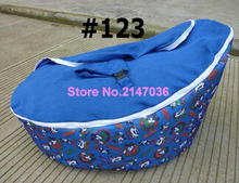 Blue Mouse Boy's Baby bean bag seat , kids beanbag sleeping bag wholesale – DOUBLE SEAT children sofa chairs
