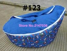 Синий Мышь мальчика Детские Bean Bag сиденья, дети погремушка спальный мешок Оптовая продажа-двойной сиденье детей диван стулья