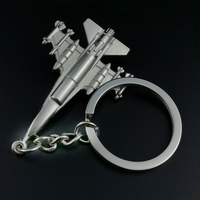 10PCS Metal Aircraft Keychain Charm Unisex Car Key Ring Holder Alloy Keyfobs For Key Bag Keyring