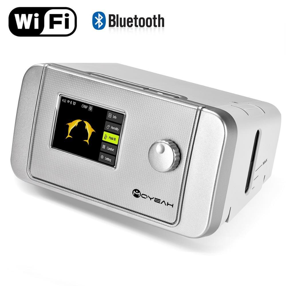 MOYEAH Auto CPAP/APAP Máquina 20A Para OSA Vibrador Anti Ronco Apnéia Do Sono CPAP Ventilador Com Umidificador de Internet Wi-fi máscara