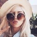 Большой Негабаритных Стильный Солнцезащитные Очки Женщины Круглый Зеркало Марка Дизайнер Розовый Солнцезащитные Очки Леди Ретро UV400 Стимпанк Солнцезащитные Очки Женщина