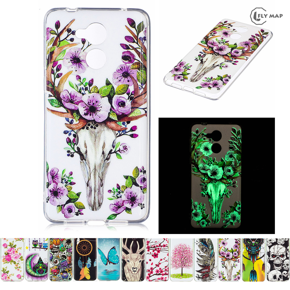 Galleria fotografica Luminous TPU Case for Huawei P9 Lite Smart DIG-L03 DIG L03 Soft Silicone Floral Protect Cover for Huawei Nova Sma DIG-L21HN case