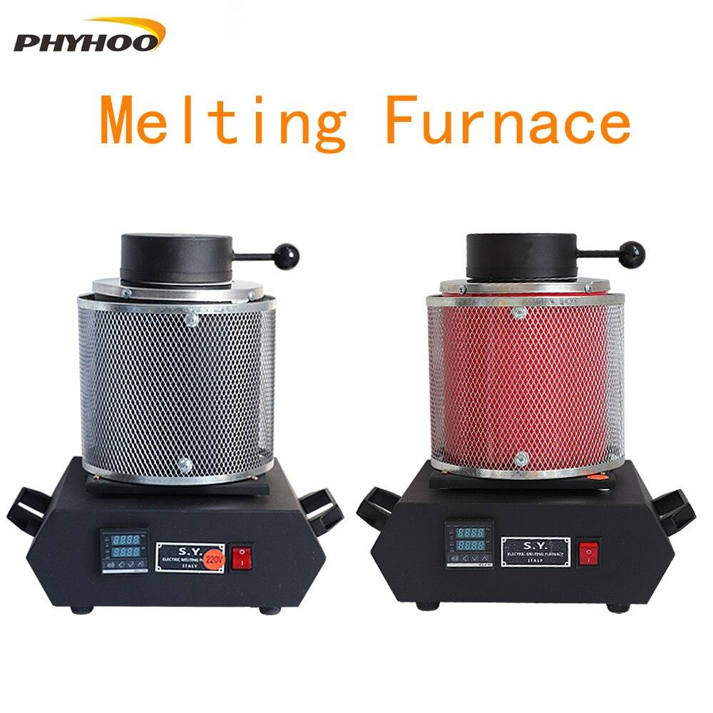 Gold Melting Furnace Digital Melting Furnace Machine Heating Capacity 2100W Casting Refining Precious Metals Gold Silver