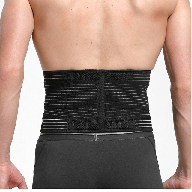 Unisex Waist Trimmer Gym Sports Fitness Lumbar Belt Brace 8 Stable Splints Support with 4 Adjustable Straps Weight Loss Shaper 1