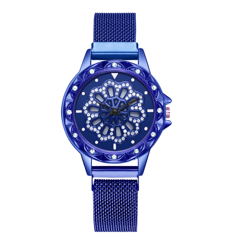 360-degree-rotation-Women-Watch-Mesh-Magnet-Starry-Sky-Ladies-Watch-Luxury-Fashion-Geometric-Quartz-Watch 3