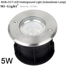 Milight SYS-RD1 5W RGB + wtc doprowadziły pod ziemią lekka IP68 wodoodporna podporządkowane lampa DC24V APP WIFI DMX512 amazon sterowanie głosem tanie tanio veromount Podziemne lampy Żarówki led APP remote control Amazon voice control milight SYS-RD1 5W RGB+CCT LED Underground Light