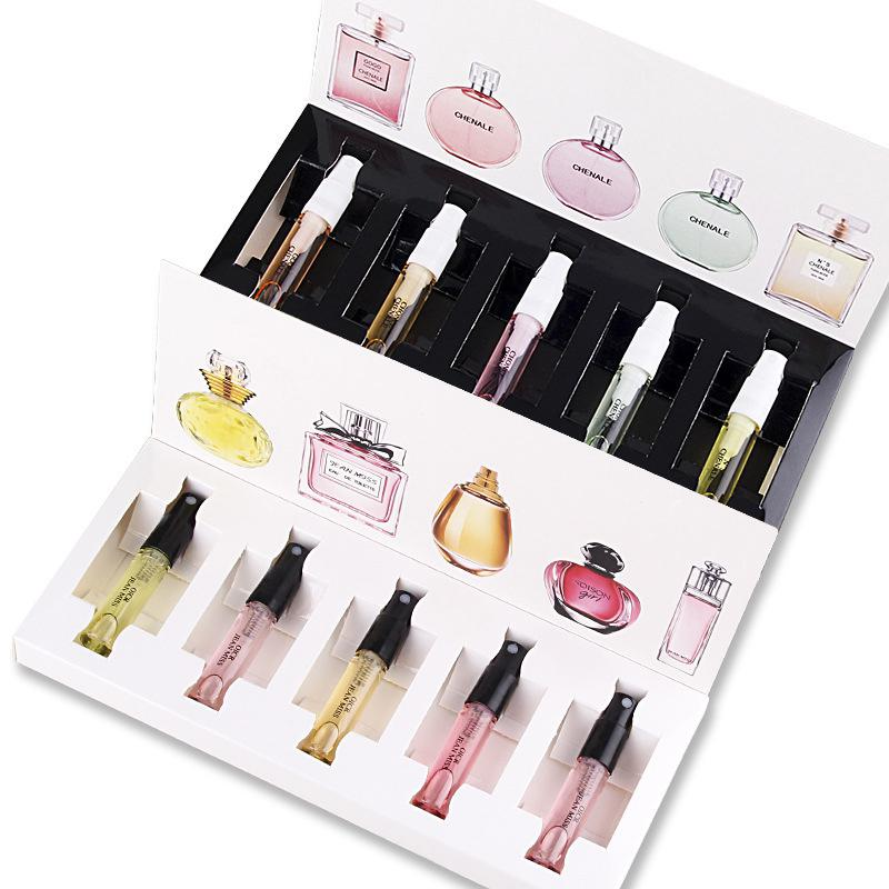 5Pcs/Set Original Women's Fragrance Men Women Portable Perfume Set Flower Fragrance Perfumed Sample Gift Box Set