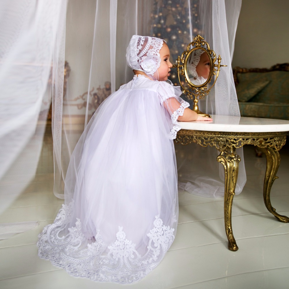 2017 Vintage Baby Girls Christening Gowns Baptism Dresses
