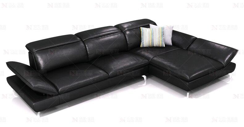 kauč od prirodne kože kauč presjek dnevni boravak kauč ugaona - Namještaj - Foto 2