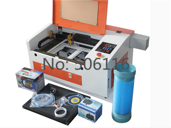 Upgraded Version CO2 60W 110/220V Laser Engraving Cutting Machine with USB port