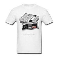 Designer Gamer NEStolgia Pré-algodão de Manga Curta camisa de t dos homens Adolescentes Roupas Baratas Por Atacado