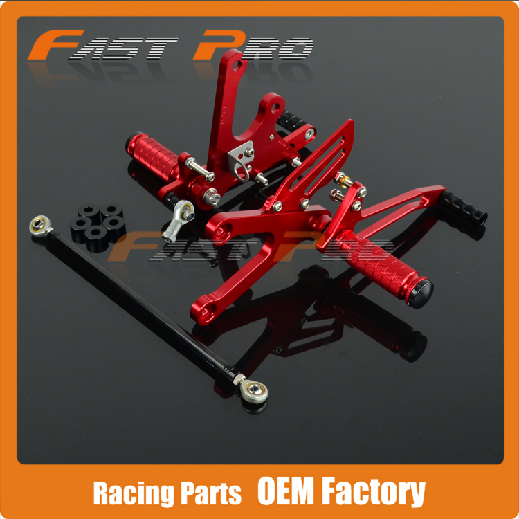 CNC Motorcycle Adjustable Billet Foot Pegs Pedals Rest For HONDA NSR250 <font><b>NSR</b></font> <font><b>250</b></font> image