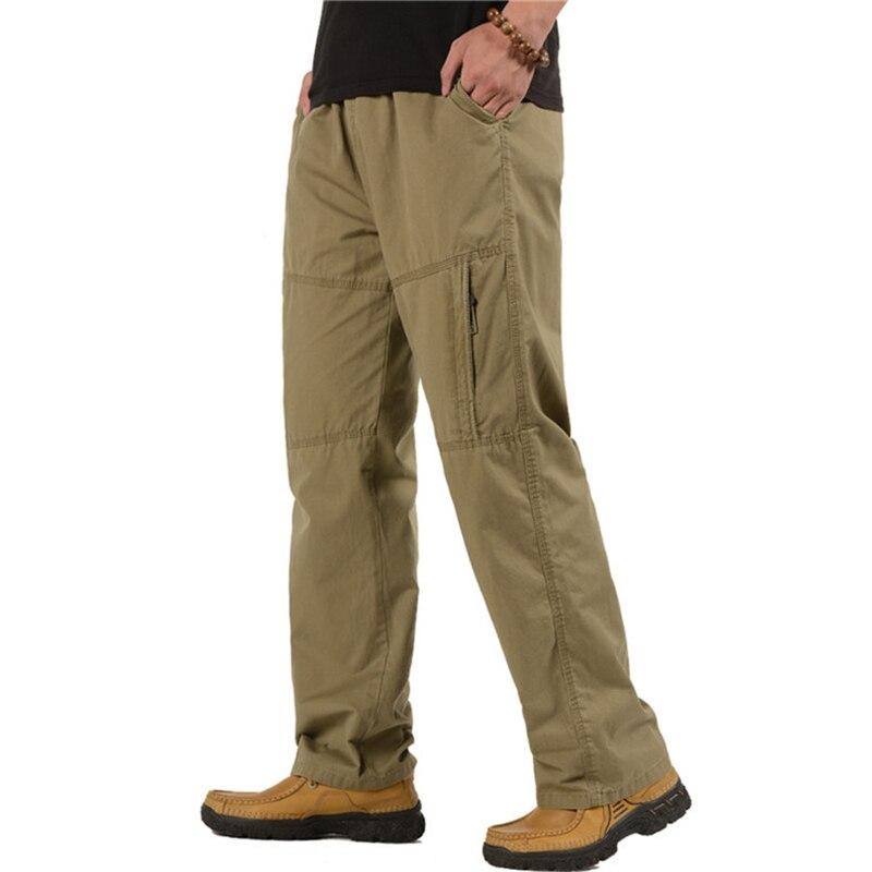 Hombres pantalones de carga casual combate del ejército militar pantalones hombres multi bolsillo pantalones largos más tamaño 5XL 6XL