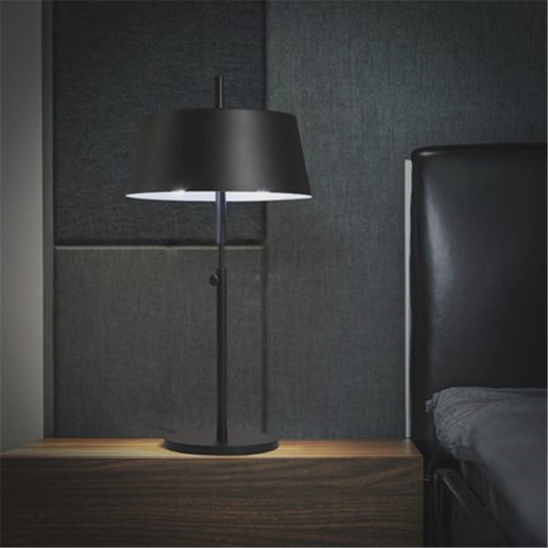 Fashion led black table lamp warm bedroom bedside light - Black table lamps for living room ...