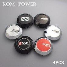 KOM 64/60mm clip japan advan racing center caps for ssr rim cover hubcap xxr voiture dust-proof hood set of 4 enkei logo sticker