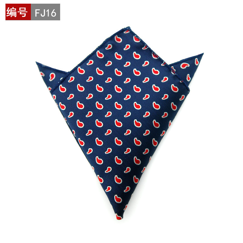 2020 Fashion Handkerchief Printed Dot Plaid Pocket Square For Men Suits Wedding Party Hankies Mouchoir Homme