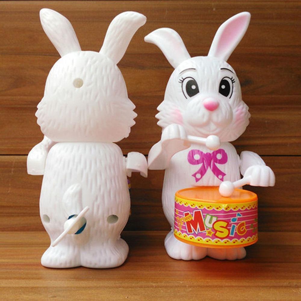 1 pièces drôle dessin animé enfant lapin tambour jouet horloge liquidation développement jouet pour bébé anniversaire Surprises cadeaux