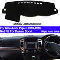 Taijs rhd 자동차 대시 보드 커버 대시 매트 for mitsubishi pajero 2008 2009-2013 2014 2015 2016 2017 2018 자동 dashmat 카펫 패드