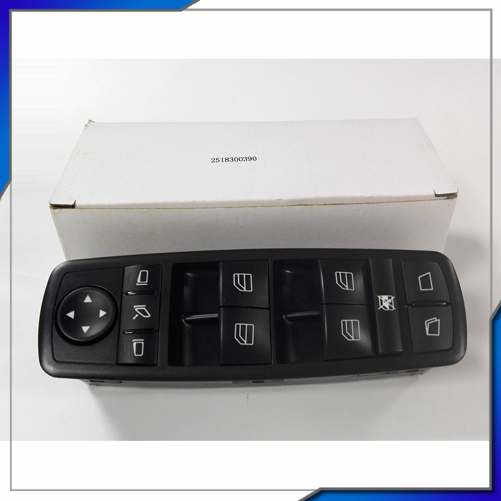 car accessories Left Front Door Window Mirror Master Switch NEW OEM 2518300390 For Mercedes-Benz GL350 GL450 GL550 GL Class 7pcs oem chrome headlight master window