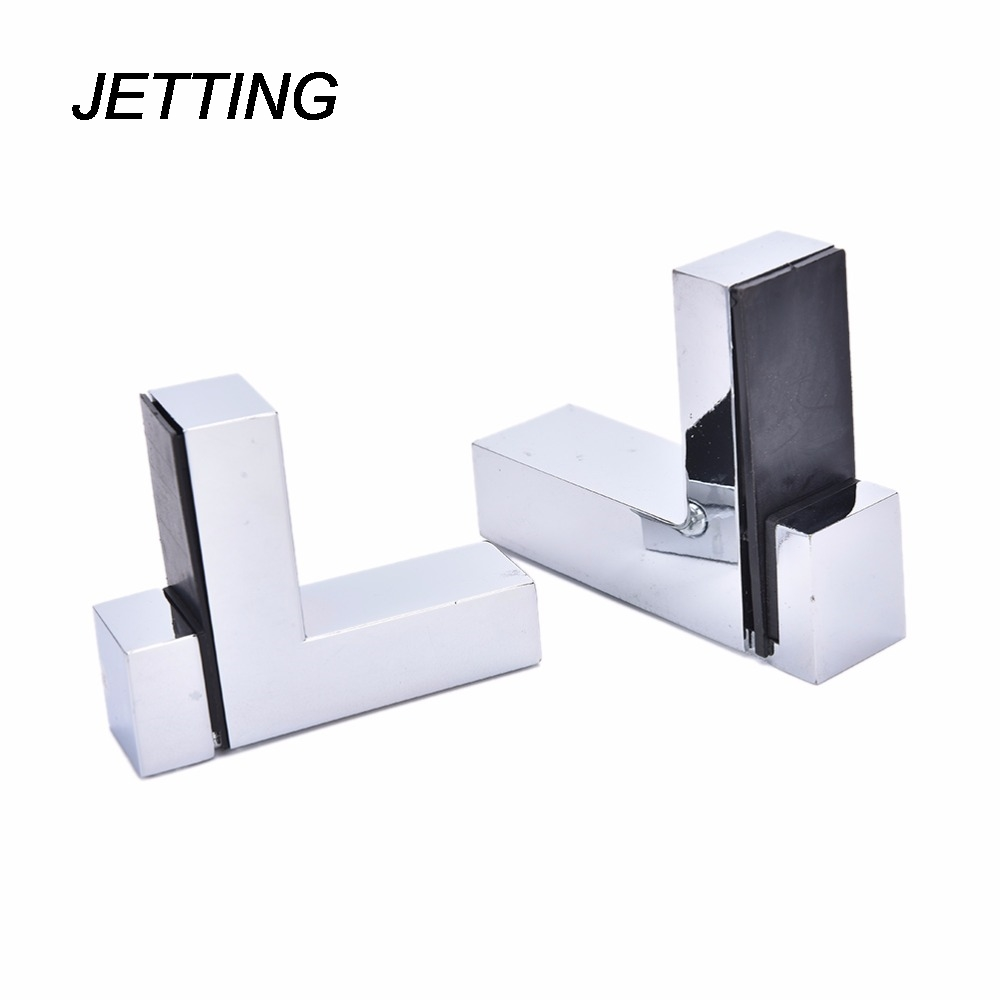 jetting metal adjustable woodglass shelf bracket wall mount 1 pcs polished chromechina - Glass Shelf Brackets