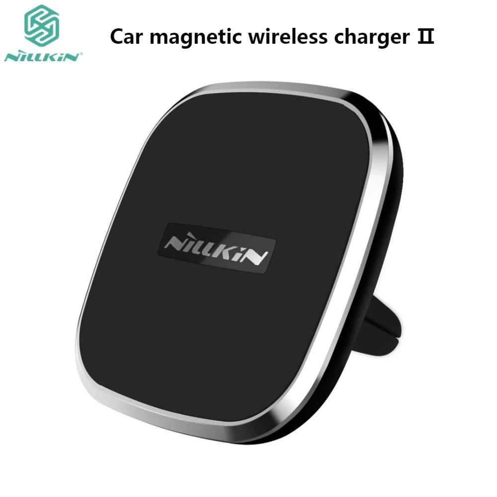 imágenes para Nillkin cargador inalámbrico qi coche air vent mount holder magnética almohadilla para iPhone 7 Plus 7 6 6 s 6 plus para samsung s6 s7 s7edge note5