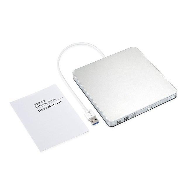 Внешний тонкий USB 3,0 DVD горелки DVD-RW VCD CD RW горелки Привод Superdrive Портативный для Apple Pro Air iMAC портативных ПК тетрадь
