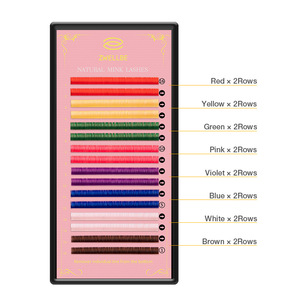 Image 2 - zwellbe 16Rows 8 Colors Colored Eyelash Extension 8 15mm Faux Mink Color Eyelashes Colorful Cilia Eyelash Extension Makeup Tool