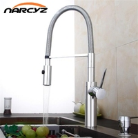 Kitchen Faucet Newly Design 360 Swivel Solid Brass Single Handle Mixer Sink Tap Chrome Hot And