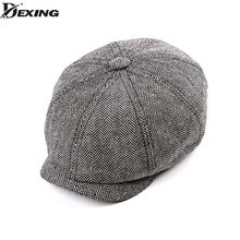 2d3b11cbf67 2018 new Tweed Gatsby Newsboy Cap Men autumn winter Hat for men Golf  Driving Flat cap
