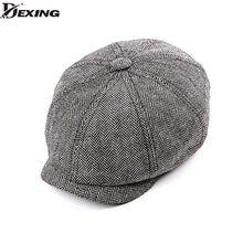 De Gatsby vendedor de primavera otoño sombrero para hombres Golf gorra  plana boinas hombres peaky blinders 8c69119b028