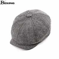 Tweed Gatsby casquette gavroche printemps automne chapeau pour hommes Golf conduite plat casquette bérets hommes peaky blinders chapeau bone