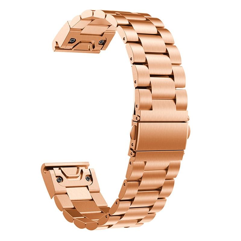 Купить с кэшбэком High quality 26mm Genuine Stainless Steel Bracelet For Garmin Fenix 5X Quick Release Fit Band Strap For Garmin Fenix 3 GPS Watch