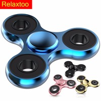 NEW Hand Metal Spinner Tri-Spinner EDC Fidget Toy For ADHD Anti Stress Finger Figet Spiner Toys Profession Gyro Tops Handspinner
