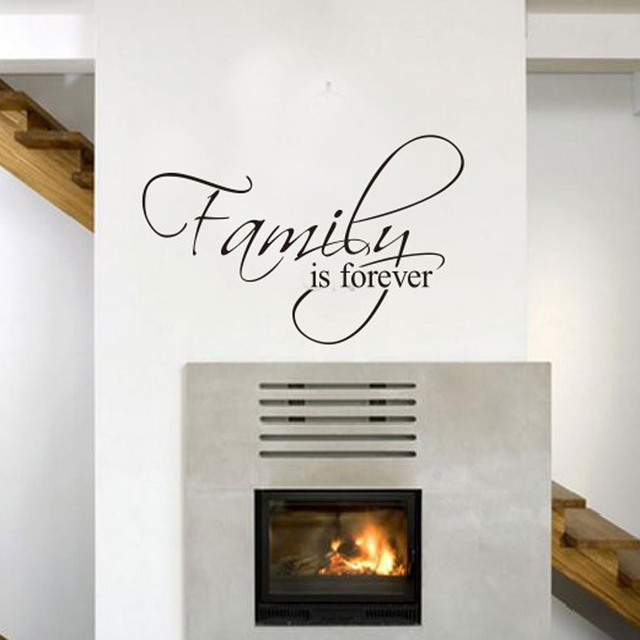 family is forever home decor quotes wall decals decorative adesivo de parede removable vinyl wall stickers - Home Decor Quotes