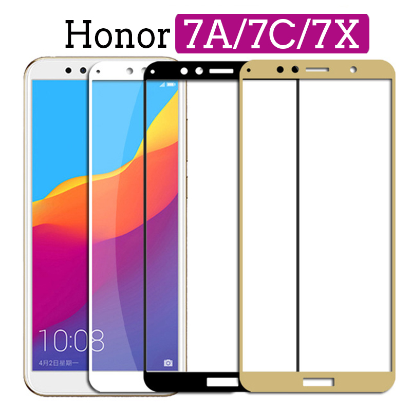 Protective Tempered Glass on the For huawei Honor 7A Pro 7X 7C honor7a honor7c Hono 7 A C X A7 C7 X7 Glass screen protector Film-in Phone Screen Protectors from Cellphones & Telecommunications