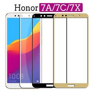 Image 1 - מגן זכוכית מחוסמת על עבור huawei Honor 7A פרו 7X 7C honor7a honor7c Hono 7 ג X A7 c7 X7 זכוכית מסך מגן סרט