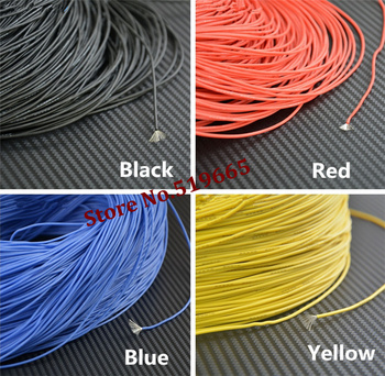 24AWG Red/Black/Yellow/Blue color Silicon Wire Soft Cable wire for led driver led strip,USB,fan ,audio,signal canble --100M/lot