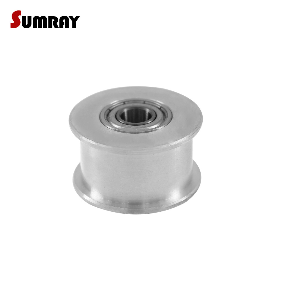 SUMRAY 5M Idler Pulley 20T Without Teeth Bore 5/6/8/10/12/15mm Tension Belt Wheel No Teeth 16/21mm Belt Width With Bearing