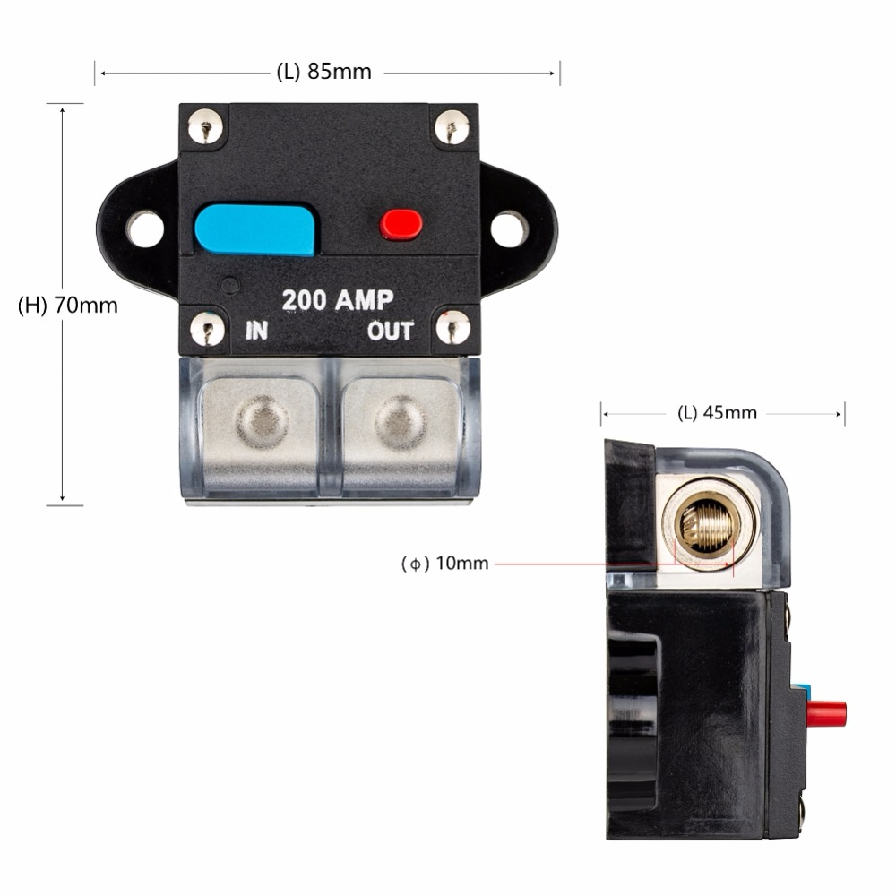 hight resolution of 80a 100a 150a 200a 300a car truch audio circuit breaker fuse holder in fuses from automobiles motorcycles on aliexpress com alibaba group