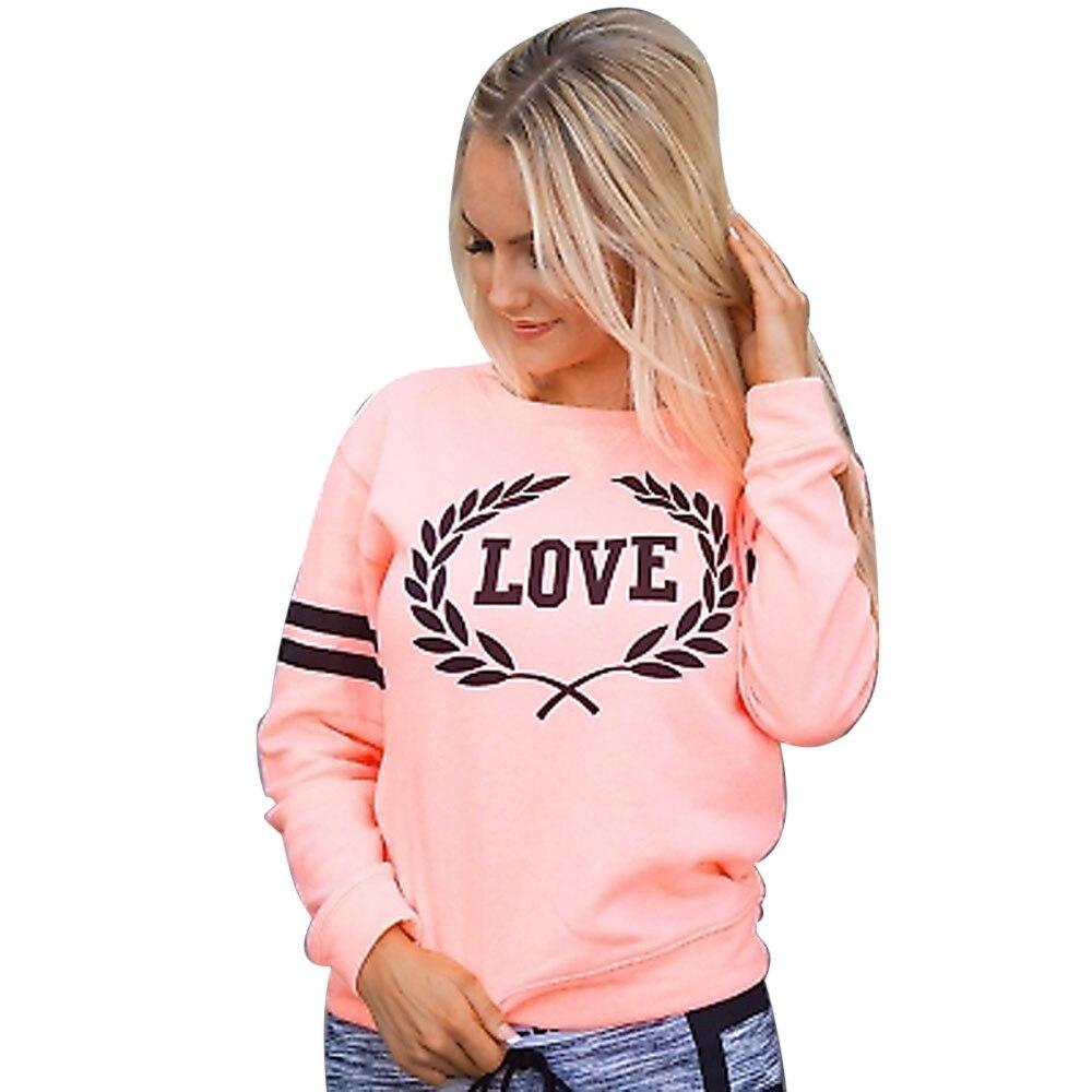2019 Clothes Sweatshirt Love Hoodie Women Casual Love Letters Sweatshirt Pullover Tops Spring Long Sleeve Harajuku Riverdale