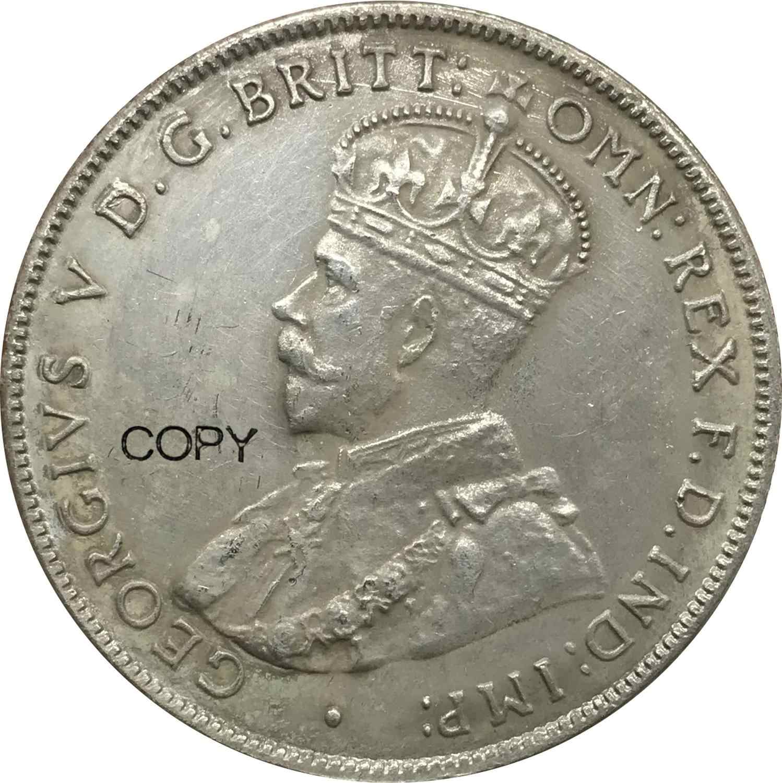 In australia George V 1915 H Anno di Un 1 Florin Due Scellini Cuproickel Placcato Argento Monete Copia