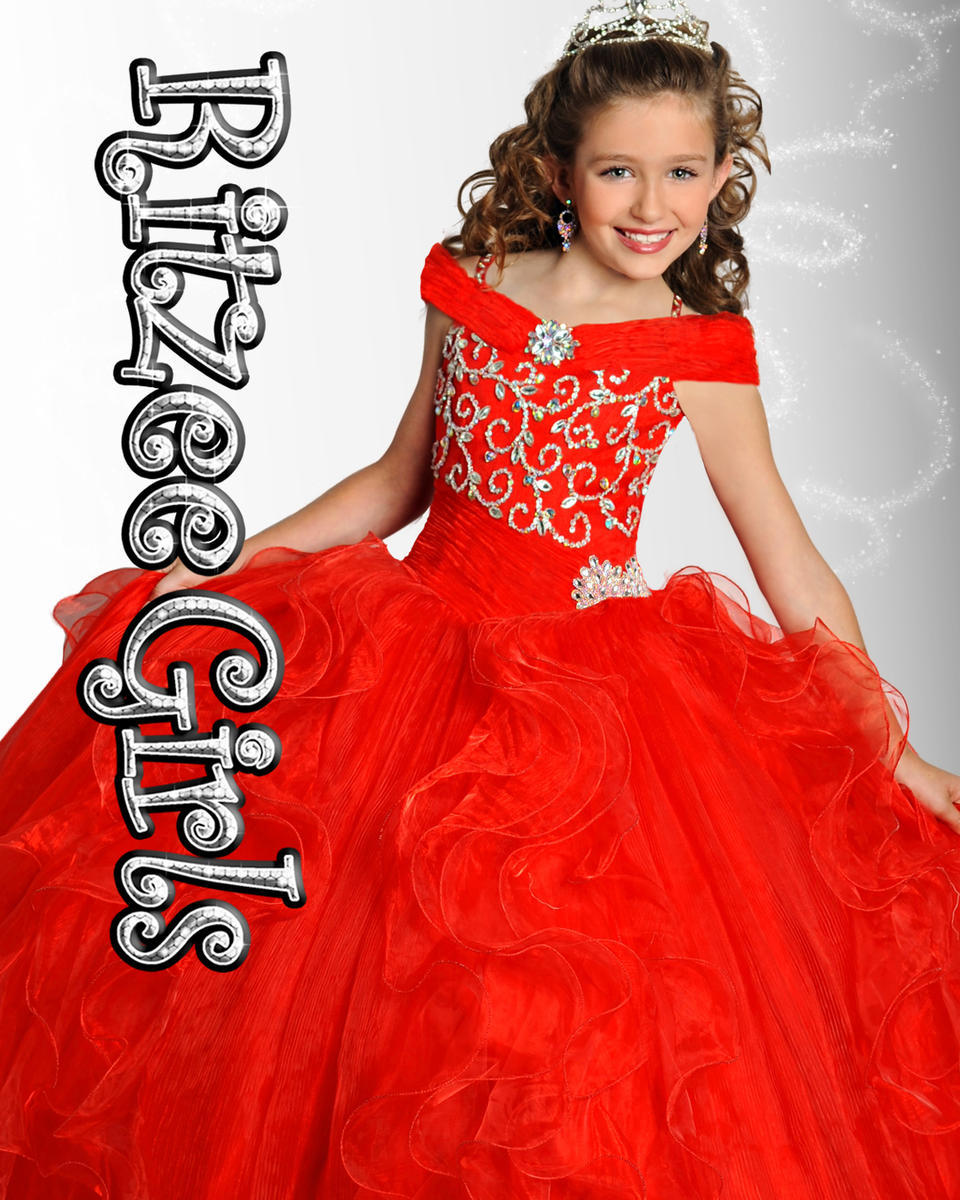 Most Beautiful Short Sleeve Ball Gowns Organza Beaded Crystal Girls ...