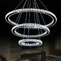 Новый креативный 3-кольный хрустальный светильник  Подвесная лампа  современная простота  лампа для гостиной  Светодиодная потолочная ламп...