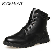 Winter Boots Men Shoes Lace-Up Ankle Wool Snow Boots Man Hombre Botas Masculina Antiskid Warm Waterproof Men Boots Size 39-44