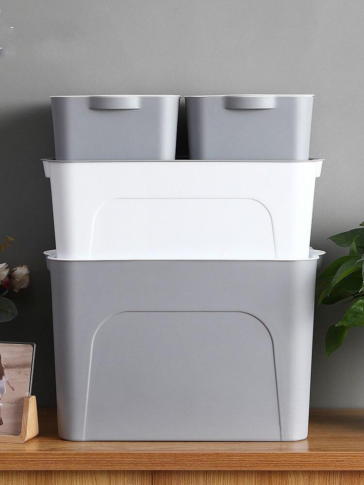 Dortoir cosmétiques boîte de rangement bureau en plastique multi-fonction boîte de rangement maison avec taille de couverture finition boîte de rangement LM7171556