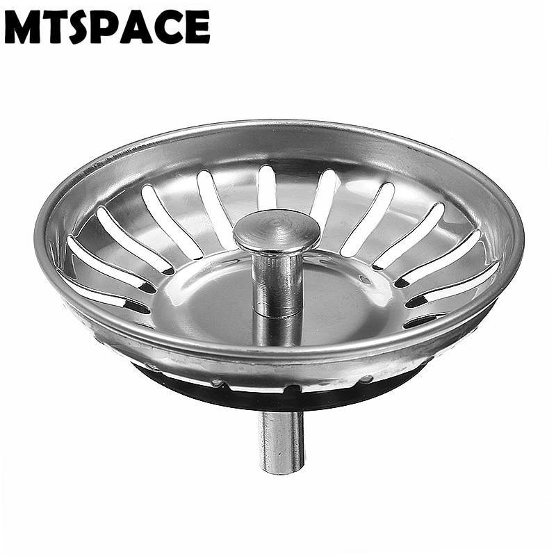 MTSPACE 78mm Bathroom Deodorization Type Basin Sink Drain 304 Stainless Steel Kitchen Strainer Stopper Waste Plug Sink Filter
