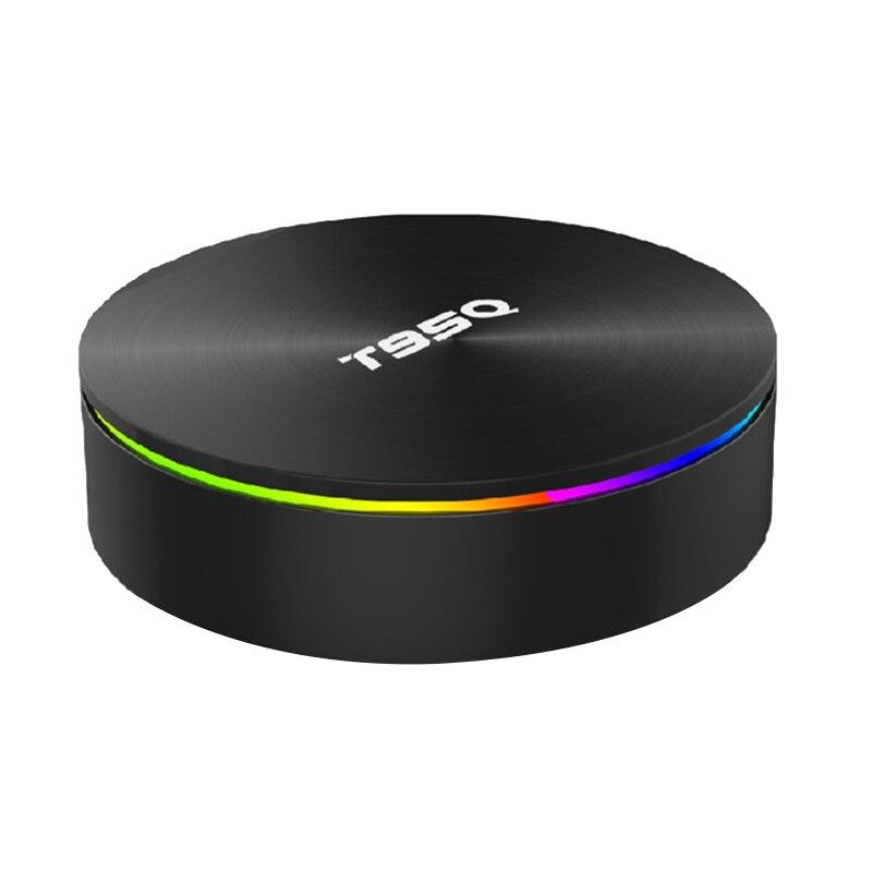 T95Q 4 Go Boîte de Télévision Android 8.1 Lpddr4 Amlogic S905X2 Quad Core 2.4G et 5Ghz Wifi Double Bt4.1 1000M H.265 4K Lecteur Multimédia