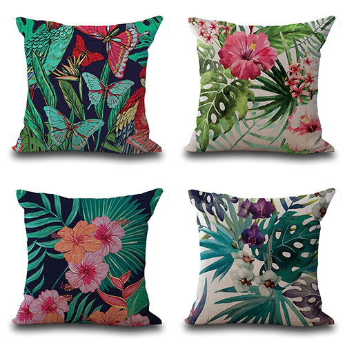 Тропических растений Фламинго печати Пледы Наволочки дома