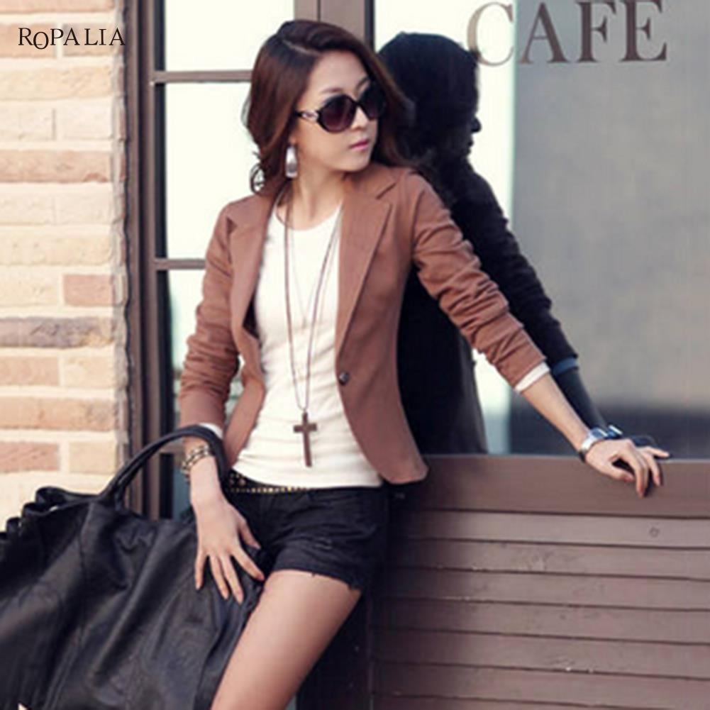 Women Blazer Feminino Plus Size 2XL Formal Jacket Women's White Blaser Rosa Female Blue Suit Office Ladies Veste Femme